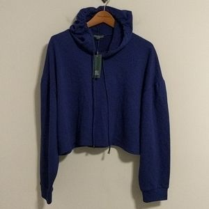 Wild fable cropped purple hoodie sweatshirt
